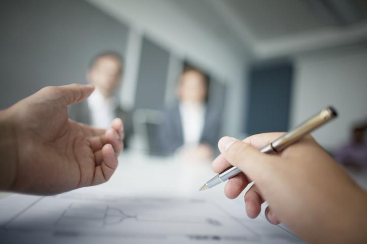 close up meeting between financial advisors